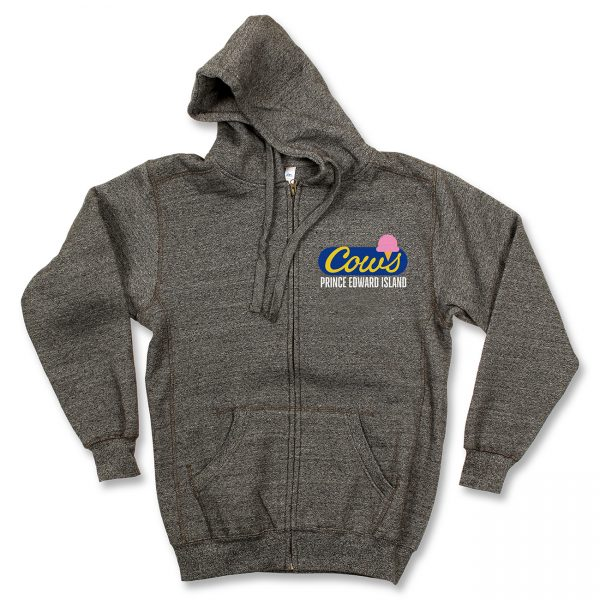 COWS Logo Full Zip, Grey