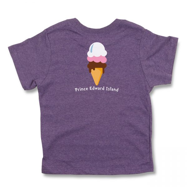 COWS I Scream Kids T, Purple - Back