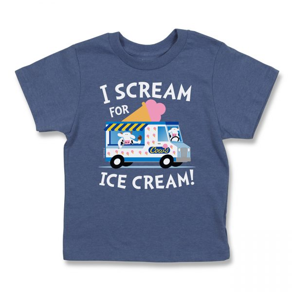COWS I Scream Kids T, Navy