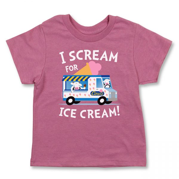 COWS I Scream Kids T, Pink
