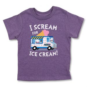 COWS I Scream Kids T, Purple