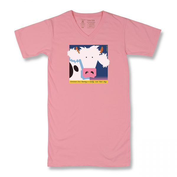 COWS Bad Hair Day T Nightshirt - Pink