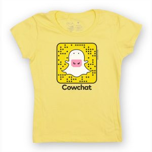 COW CHAT GIRLY T - YELLOW