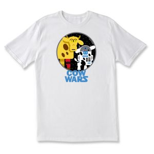 COW WARS DROIDS ADULT T - WHITE