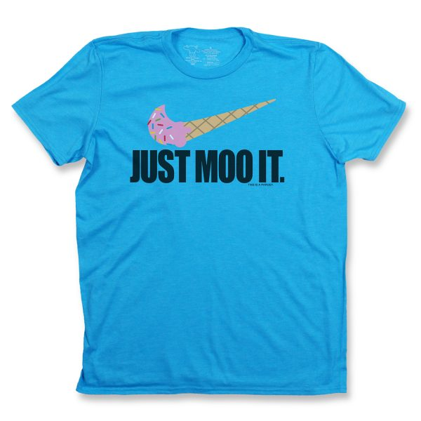 Just Moo It Youth T - Light Blue