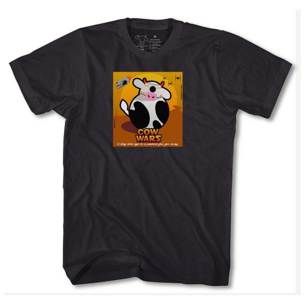 COW WARS BB8 ADULT T - BLACK