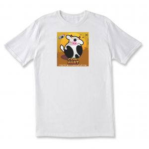 COW WARS BB8 ADULT T - WHITE