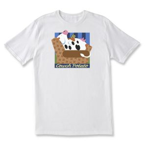 COUCH POTATO CLASSIC T - WHITE