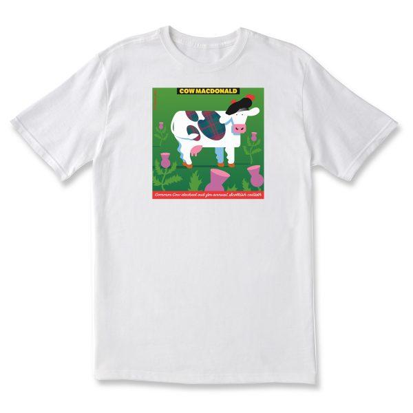 COW MACDONALD CLASSIC T - WHITE