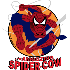 THE AMOOZING SPIDER-COW CLASSIC T IMAGE