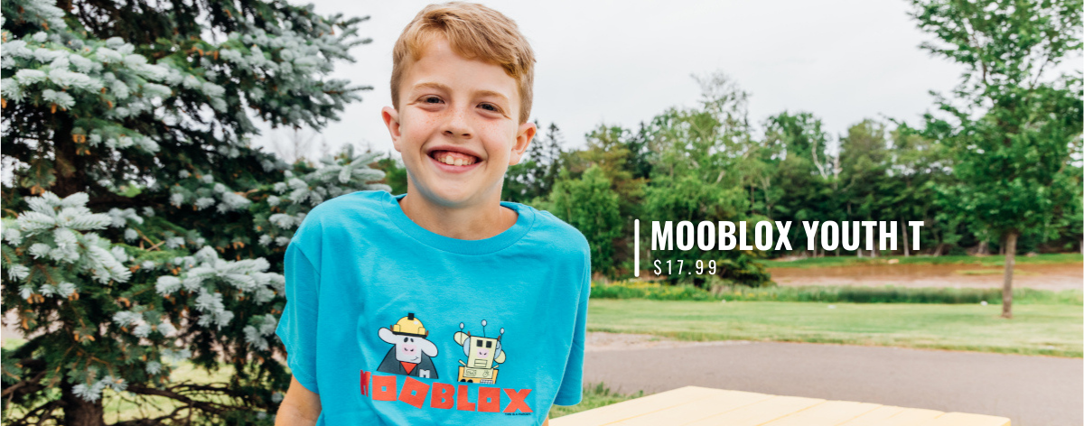 Youth Clothing with MOOblox T
