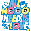 ALL MOO NEED IS LOVE CLASSIC T IMAGE