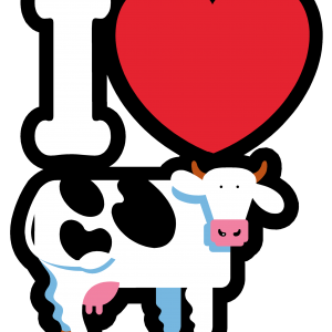 I HEART COWS CLASSIC T IMAGE