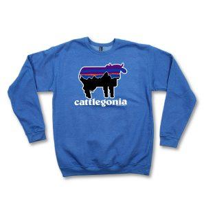 CATTLEGONIA CREWNECK - BLUE